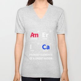 AmErICa | Primary Elements Of A Great Nation Unisex V-Neck