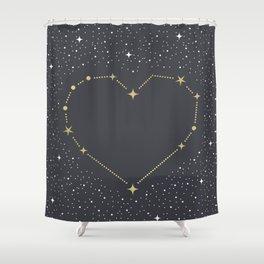 Heart Constellation Shower Curtain