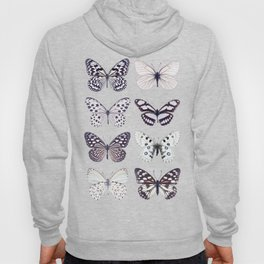 Black and white marble butterflies Hoody