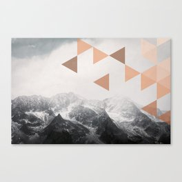 Mountains  - Vintage - Nature Photography Canvas Print
