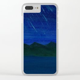 Evening Showers Clear iPhone Case