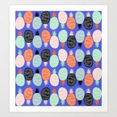 Pineapple II Art Print