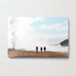 Thermal Silhouettes  Metal Print