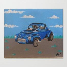 hot rod Willys Gasser Canvas Print
