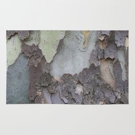 sycamore bark with a green tinge Rug