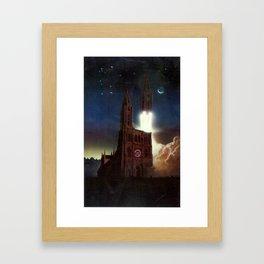 Poster for the International Space University session in Strasbourg Framed Art Print