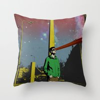 mike wrobel Throw Pillows featuring Mike by jnk2007