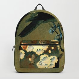Ohara Koson - Top Quality Art - Crow and Blossom Backpack