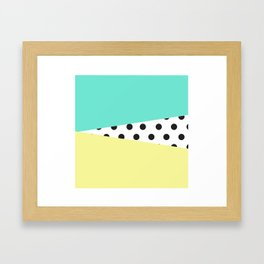 Color Block & Polka Dots Framed Art Print
