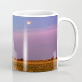 Hay Bales Under the Super Blue Blood Moon in Oklahoma Coffee Mug