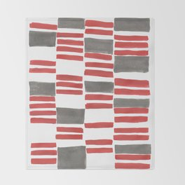 Euclid Watercolor in Red Throw Blanket