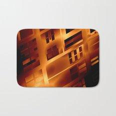 Abstract 379 Orange Geometric Windows Bath Mat