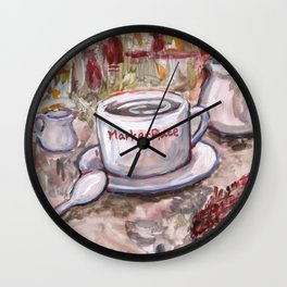Afternoon Coffee Wall Clock