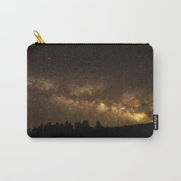 Above the Horizon - Milky Way Galaxy Above Treeline in Colorado Carry-All Pouch