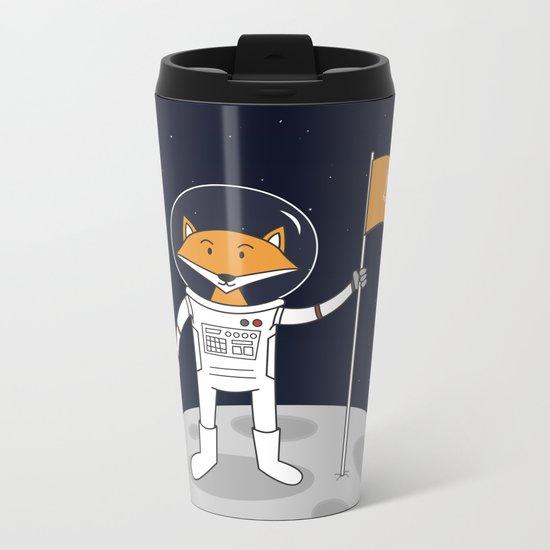 The Fox on the Moon Metal Travel Mug