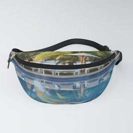 Tropical Ocean Delight, Pool Side View Fanny Pack
