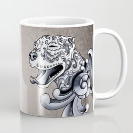 Ornamental Pit Bull - Black and Grey Filigree Pitbull Coffee Mug