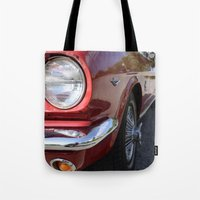 mustang Tote Bags featuring Mustang by Inphocus Photography