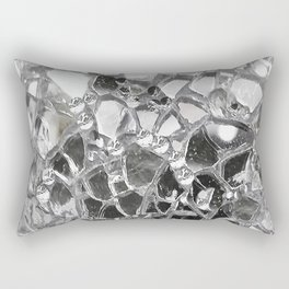 Silver Mirrored Mosaic Rectangular Pillow