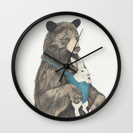 the bear au pair Wall Clock