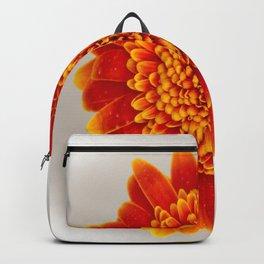 Soft Large Orange Gerber Daisy Backpack