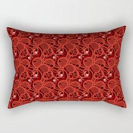 Cherry Tomato Hearts Rectangular Pillow