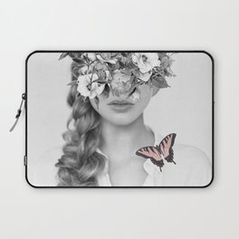 woman with flowers and butterflies 9a Laptop Sleeve