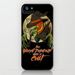Cult of the Great Pumpkin: Witch Mask iPhone Case