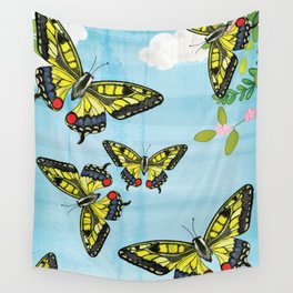 Flutter Away Wall Tapestry