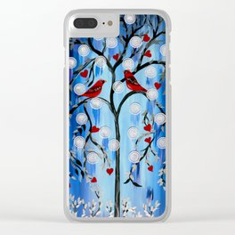 Winter Tress Clear iPhone Case