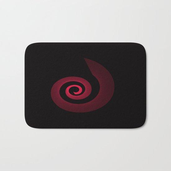 Red black spirale 5 Bath Mat