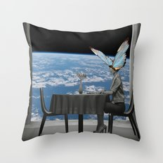 Waiting for lunch! Throw Pillow