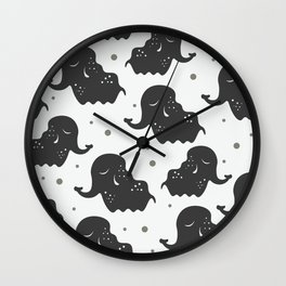 Black Elehants Wall Clock