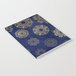 Let it snow, gold lace snowflakes in the night sky Notebook