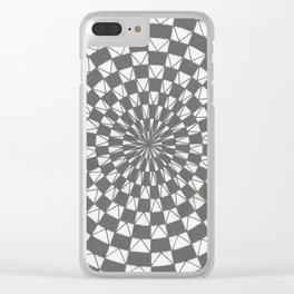 arte óptico 4 Clear iPhone Case