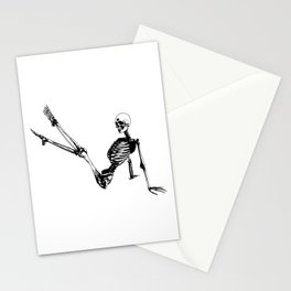 Skeleton Breakdance Stationery Cards