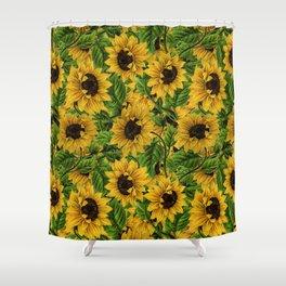 Vintage & Shabby Chic - Sunflowers Flowe Garden Shower Curtain