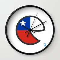 chile Wall Clocks featuring Chile Smile by onejyoo