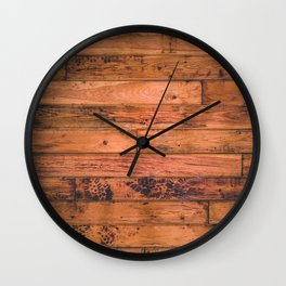 Wooden Floor Planks Wall Clock