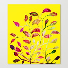 Red and Green Leaves! Yellow Sunshine! Canvas Print