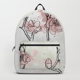 Watercolor Plum Blossom Backpack