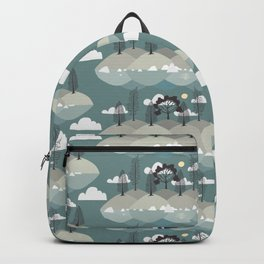 Serenity Island in Blue Pattern Backpack