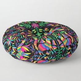 Otomi (Mexican print) - Black Floor Pillow