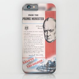 Reprint of Winston Churchill British wartime poster. iPhone Case