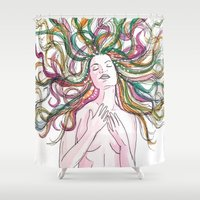 venus Shower Curtains featuring venus by Beth Jorgensen