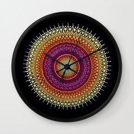 Rising Sun Mandala Wall Clock