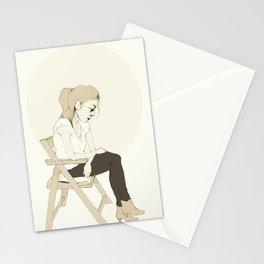 girl sitting Stationery Cards