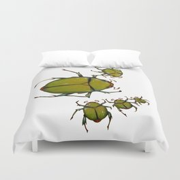 Beetles and bees Duvet Cover