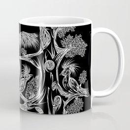 Japanese Birds Inverted Coffee Mug