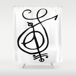 Sigil to Release the Past Shower Curtain